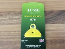 Acme Shepherds Plastic Lip Whistle IN YELLOW. Sheep Dog Training Herding
