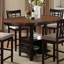 Coaster Company Lavon Dining Group in Light Chestnut and Espresso Counter Height Table