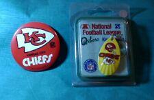 New ListingVintage Kansas City Chiefs Football Pinback Button & Oxboro Fishing Key Chain