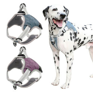 No Pull Reflective Adjustable Dog Harness Front Clip Soft Padded Vest Large Dogs