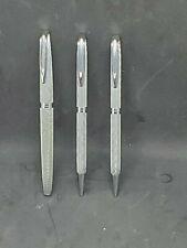 Waterman C/F Silver Moire Set, FP, BP & Pencil