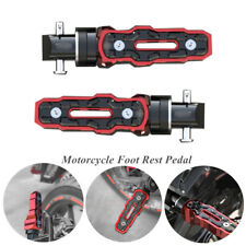 1 Pair Red Rear Motorcycle Motorbike Anti-Skid Widened Foot Rest Modified Pedal