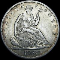 1858-O Seated Liberty Half Dollar --- Type Coin Silver Stunning --- #J505