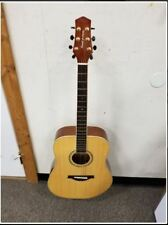 Wood Song Traditional Dreadnought Acoustic Guitar with Padded Gig Bag Lefty