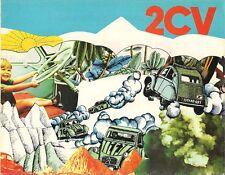 Citroen 2CV 4 & 2CV 6 1971-72 Dutch Market Foldout Sales Brochure
