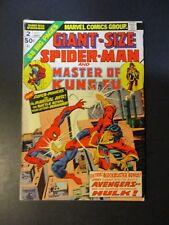 Marvel Comics Spiderman Giant # 2 w/ Master Kung Fu 1974 Vintage Old Comic Book