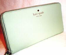 KATE SPADE NEW YORK MIKAS POND COLLECTION MINT MAJITO LACEY WALLET CLUTCH~$178