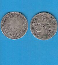 Gertbrolen 2 Francs argent Cérès  1871 Paris Variété Grand A Exemplaire N° 2