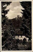 Waldkirch im Breisgau alte Ansichtskarte 1942 Durchblick vom Wald zur Kastelburg