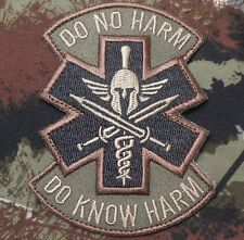 DO KNOW NO HARM SPARTAN MEDIC MORALE FOREST VELCRO® BRAND FASTENER PATCH