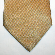 NEW Lord & Taylor Silk Neck Tie Beige Brown with Light Blue Pattern 338