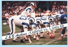 20x30 Rams ROMAN GABRIEL Detroit Lions 1966 Eagles Color Poster photo