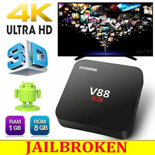V88 RK3229 1G+8G Android Smart 4K TV Box Quad Core Media Player Free Live Movie