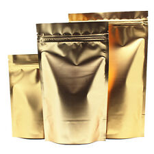 Gold Aluminum Foil Stand Up Package Bag Mylar for Zip Food Grade Lock Bean Pouch