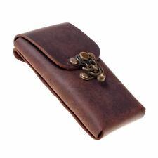 Smartphone- / Handy-Gürteltasche - mit Hakenverschluss aus echtem Leder