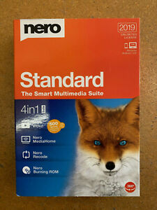 NERO STANDARD 2019 4-in-1 Suite MULTIMEDIA APPS  Full Version RETAIL BOXED NEW