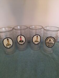 Set Of 4 Double Wall Plastic Tervis Tumblers With Different Florida Patches