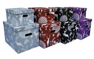 Aufbewahrungsbox mit Deckel DEER Box Kiste Schachtel 15 und 47 L aus Karton