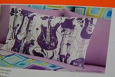 Your Zone Purple Guitars Statement Pillowcase Lot of 2 Standard Pillowcases New