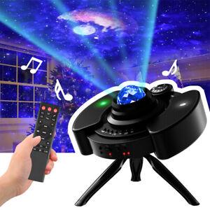 4 in 1 UFO Romantic Galaxy Night Light Lamp Projector LED Ocean Wave Starry Star