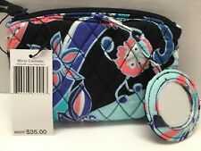 Vera Bradley Mirror Cosmetic Case In LOTUS FLOWER SWIRL W/ Mirror Attached NWT
