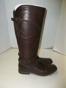 "Womens Size 11B Frye ""Phillip"" Brown Leather Knee High Riding Boots"
