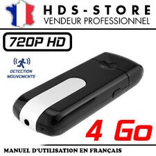 USBCAM1-HD CLÉ USB CAMÉRA ESPION HD 720P + 4 GO DÉTECTION VIDÉO PHOTO DICTAPHONE