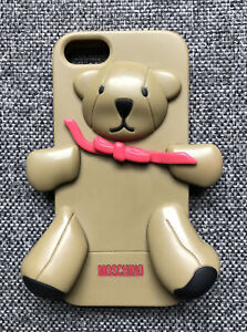 Moschino Rubber Teddy Bear Phone Cover Back Case Skin For Apple iphone SE - VGC