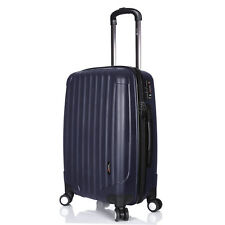 "Hard Navy Blue Luggage Suitcase Lightweight Extra Large 31"" with 4 Double Wheels"