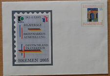USo 52 - Bilaterale Briefmarkenausstellung Deutschland Frankreich Bremen 2003