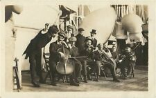 Old WWI Real Photo Postcard - Sailor's Band Aboard Ship