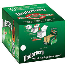 30 Fläschchen Underberg Kräuter 44 % vol. a 0,02L