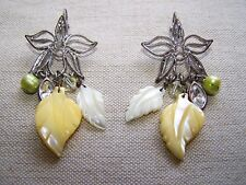 "DYRBERG/KERN YELLOW LEMON ""ORCHID"" ""SYPHRA"" EARRINGS PARADOXE COLLECTION 2006"