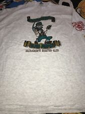 Sacramento Gold Miners CFL Booster Club Graphic Tee Shirt Vtg 90s Heather Gray