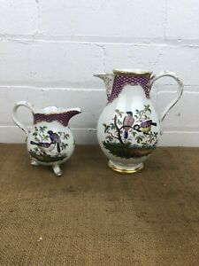 Two Early Antique 19thc Meissen Milk Or Cream Jugs Stunning