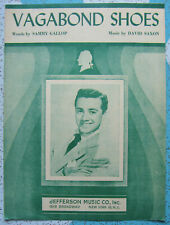 VAGABOND SHOES SHEET MUSIC 1949 by Sammy Gallop David Saxon Vic Damone Cover
