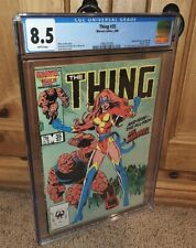 WOW 1986 Marvel Thing #35 1st APPEARANCE of Power Broker & New Ms Marvel CGC 8.5