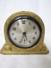 Antique Gilbert Heavy Metal Alarm Clock. runs strong