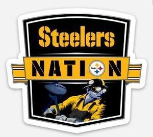 Pittsburgh Steelers MAGNET - Steelers Nation Die Cut Vinyl Waterproof Football
