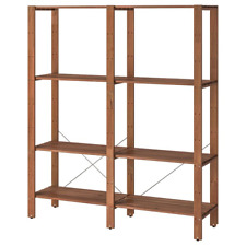 New TORDH Shelving unit, outdoor, brown stained, 140x35x161 cm 393.164.14 IKEA