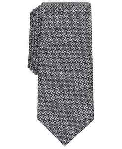 "Alfani Men's Pearl Geometric Necktie Charcoal Gray 2.75"" Wide Silk/Poly NWT $55"
