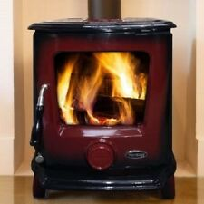 Heritage Ashford 7.5kw Wood Log Burner Stove Room Heater Enamel Colours UK Stock