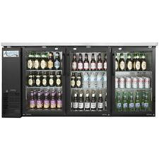 New 73 Commercial Black Bar Cooler Fridge Beverage Beer Liquor Refrigerator Etl
