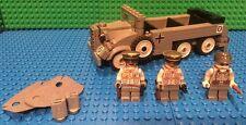 Custom Lego WW2 G4 Staff car with General, Field Marshall and Driver.