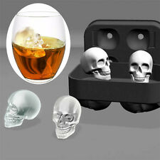 Whiskey Silicon Ice Cube Maker Mold Mould 3D Skull Brick Halloween Party Tray KP