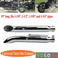 1Pair Exhaust Muffller Pipe for Harley Suzuki VL 125 800 1500 Intruder Bobber