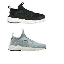 Original Nike Air Huarache Run Ultra SE Trainers Sneakers Shoes Black Grey White