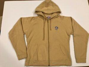Antigua Pittsburgh Penguins Women's Hooded Sweatshirt Medium Gold