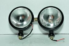 Ford Tractor Head Light Set (LH + RH) - 12 V Black