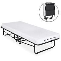 BCP Rollaway Cot-Sized Mattress Guest Bed w/ 3in Memory Foam - Black